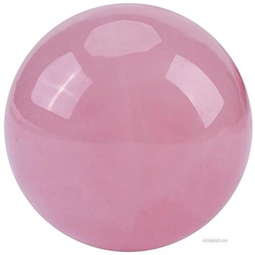 1 PCS Crystal Ball,Natural Pink Rose Quartz Stone Sphere Crystal Healing Ball