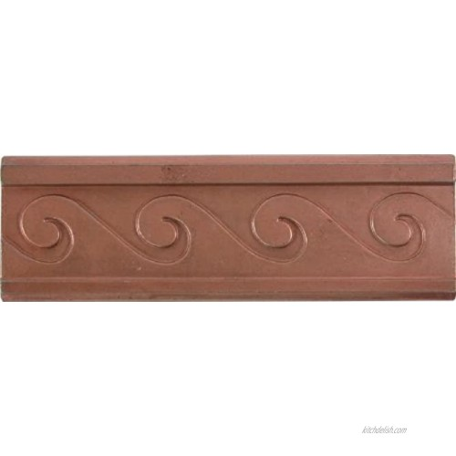 Brass Elegans 28W-RC Wave Design Solid Metal 2-Inch X 6-Inch Accent Tile Durable Red Copper Finish