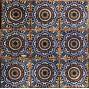 Mexican Talavera Ceramic 9 pieces 4x4 Rosario Pattern