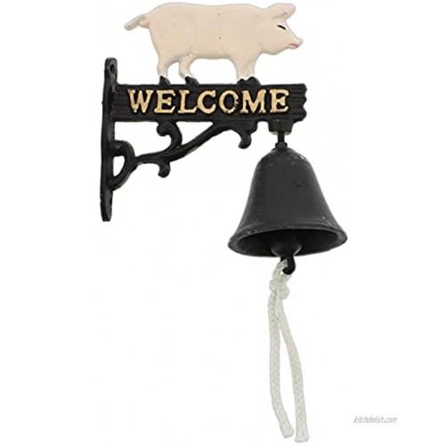 Cast Iron Pig Welcome Door Bell