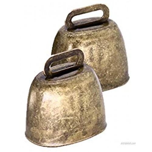 KOOBOOK 2Pcs Cow Horse Sheep Grazing Copper Bells Cattle Farm Animal Copper Loud Bronze Bell