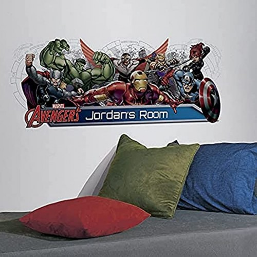 RoomMates Avengers Assemble Personalization Headboard Peel and Stick Wall Decals Multicolor