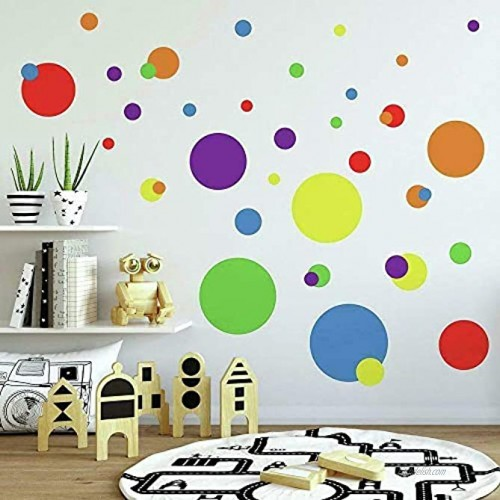 RoomMates RMK1248SCS Just Dots Peel & Stick Wall Decals Primary Colors