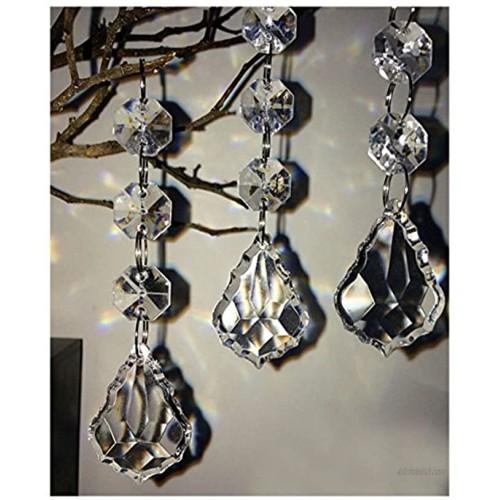 Jiangsheng Hot 30PCS Acrylic Crystal Beads Garland Chandelier Hanging Wedding Party Celebration Decor Style 9