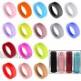 16 Pcs 65mm Protective Cup Mat Silicone Sleeve Heat-Resistant Water Bottle Holder Insulation Mat Non-Slip Cup Mug Coaster 16 Color