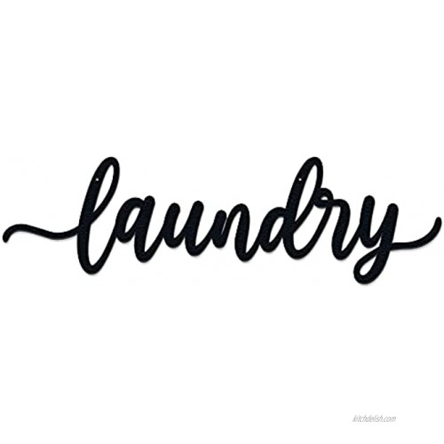Laundry Room Décor Metal Wall Art Backdrop Decoration Rustic Laundry Room Signs Hanging Decor Black Handwritten Font Gift Ideas 4.8 X 16.9 Inches