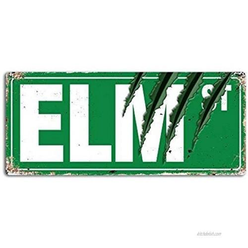Lilyanaen New Metal Sign Aluminum Sign Elm Street Claws Wall Sign for Outdoor & Indoor 8x12
