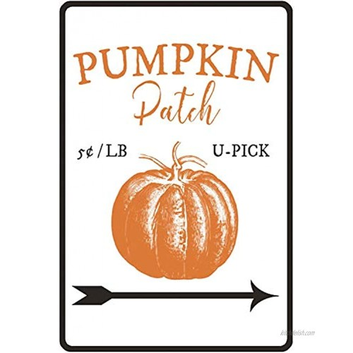 New Metal Sign Aluminum Sign Pumpkin Patch Sign Decor Easter Lover Fall Sign for Outdoor & Indoor 12 x 8