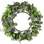 Ivalue Artificial Eucalyptus Wreath Green Leaf Wreath with White Berries Spring Greenery Wreath for Front Door Wall Window Wedding Party Decor Eucalyptus Leaves +White Berries 20 inches