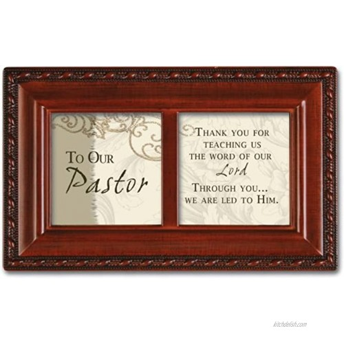 Cottage Garden to Our Pastor Woodgrain Inspirational Petite Music Box Plays How Great Thou Art
