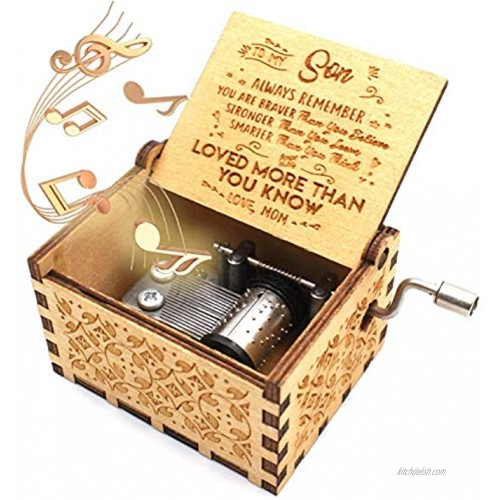 ukebobo Wooden Music Box – You are My Sunshine Music Box from Mom to Son Gifts for Kids 1 Set