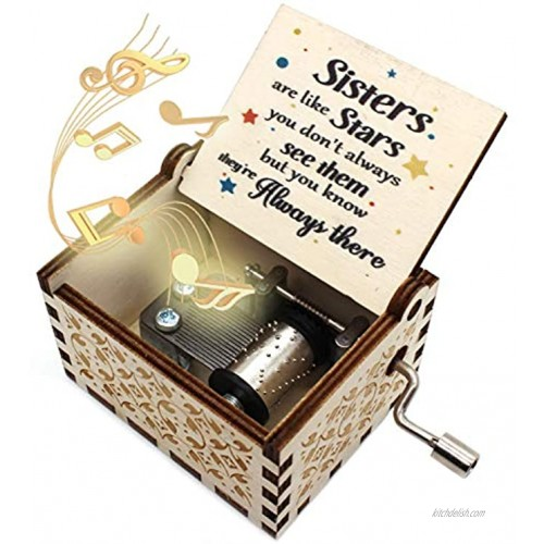 ukebobo Wooden Music Box You are My Sunshine Music Box Gifts for Sister Gifts for BFF,Newest Design Music Box 1 Set 10