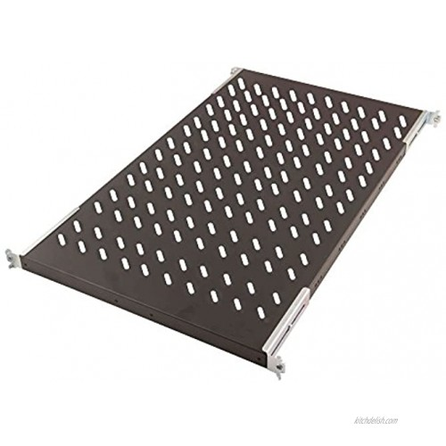 Digitus Fixed Shelf f 1000mm Depth Cab Vented. Black RAL 9005 DN-19_TRAY1-1000-ECB Vented. Black RAL 9005. up to 50kg