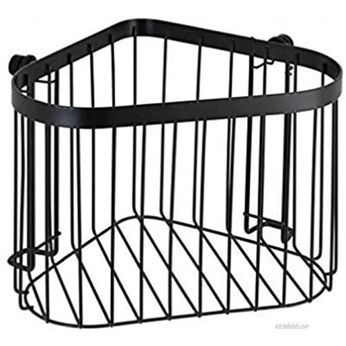 WENKO Classic Plus 23881100 Corner Shelf 23.5 x 16.5 x 18.5 cm Stainless Steel Black