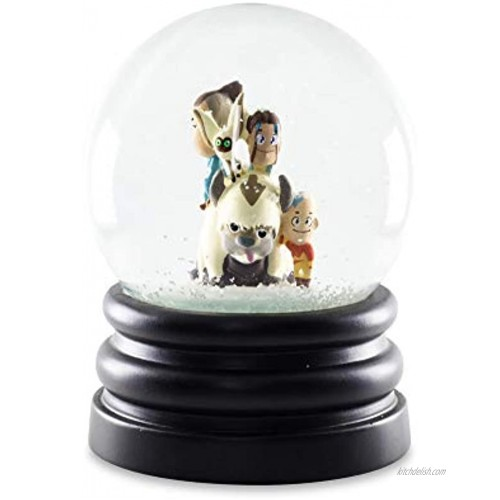 Avatar: The Last Airbender 6-Inch Snow Globe Display Piece Decoration   Chibi Avatar Aang Katara Sokka Momo and Sky Bison Appa   Official Nickelodeon Collectible   Anime Toys Novelty Gifts
