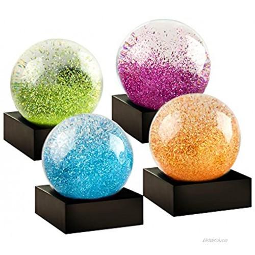 CoolSnowGlobes Jewel Mini Set of Four Snow Globes
