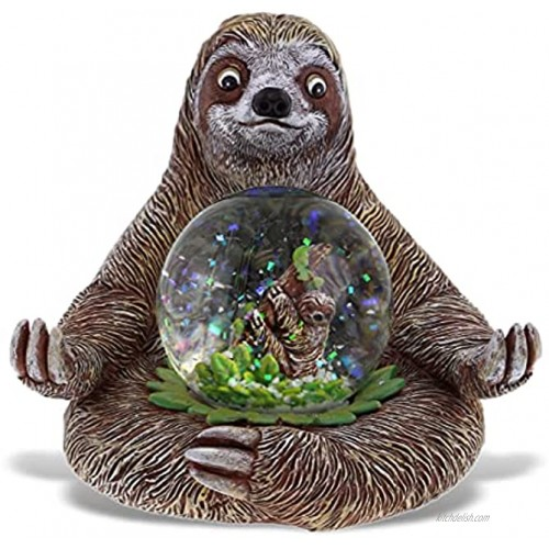 CoTa Global Sloth Snow Globe Realistic Animal Water Globe Figurine with Sparkling Glitter Collectible Novelty Ornament for Home Decor for Birthdays Christmas & Valentine 45mm