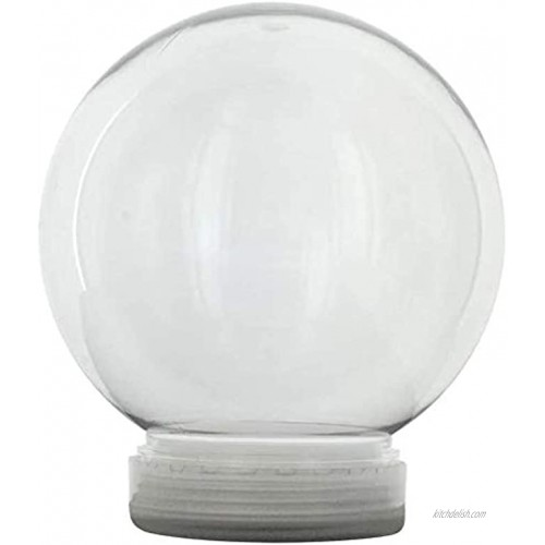Creative Hobbies 4 Inch DIY Clear Plastic Water Globe Snow Globe with Screw Off Cap -Great for DIY Snow Globes 6