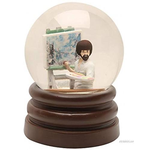 Surreal Entertainment Bob Ross Snow Globe Joy of Painting Glass & Resin 5.5 Inch