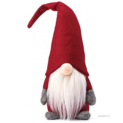 Funoasis Holiday Gnome Handmade Swedish Tomte Christmas Elf Decoration Ornaments Thanks Giving Day Gifts Swedish Gnomes tomte 16 Inches Red
