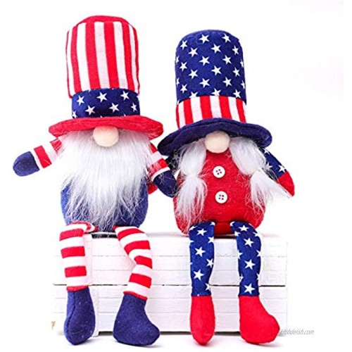Patriotic Gnome Veterans Day Plush Gnome Doll American Veterans Day Gifts,Memorial Day Decorations for Home President Election Decorations Faceless Doll Gnomes Couple