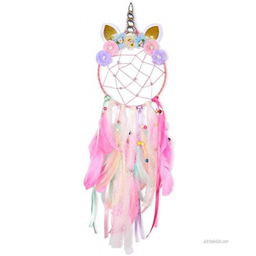 SO CAL PRO Dream Catcher Feather Pendant Wall Hanging for Car Home Girls Kids Nursery Mobile Bedroom Decoration Decor Many Styles and Colors to Choose from Pink