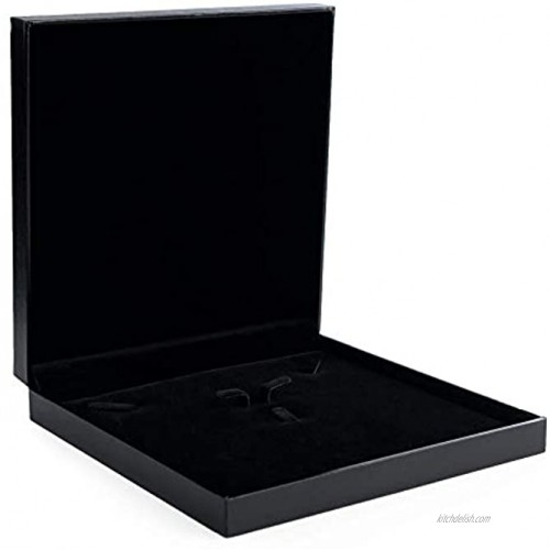 Oirlv Black Jewelry Set Box,Ring Earrings Big Necklace Gift Case