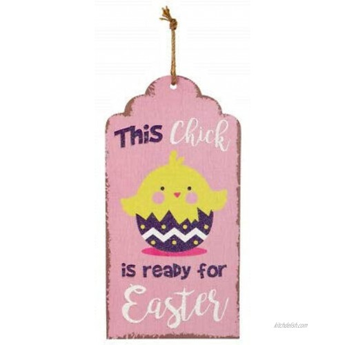 This Chick is Ready for Easter Easter Wood Wall Tag Sign Decor