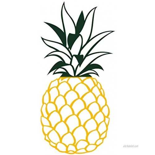 Apanda Metal Pineapple Wall Decor Tropical Pineapple Art Wall Hanging Home Outdoor Decorations for Kitchen Bathroom Bedroom and Living Room Yellow