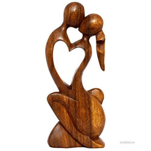 G6 COLLECTION 12 Wooden Handmade Abstract Sculpture Statue Handcrafted Endless Love Gift Art Decorative Home Decor Figurine Accent Decoration Artwork Handcarved Endless Love