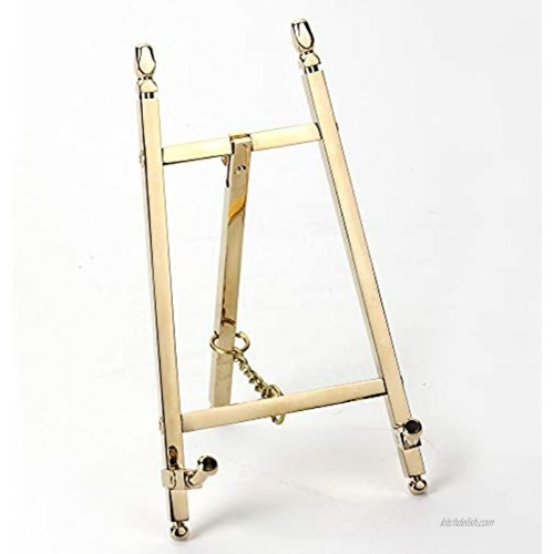 TOPNIKE Table Top Easel Art Display Easels Brass Plate Stands for Display 6 Inch 150MM