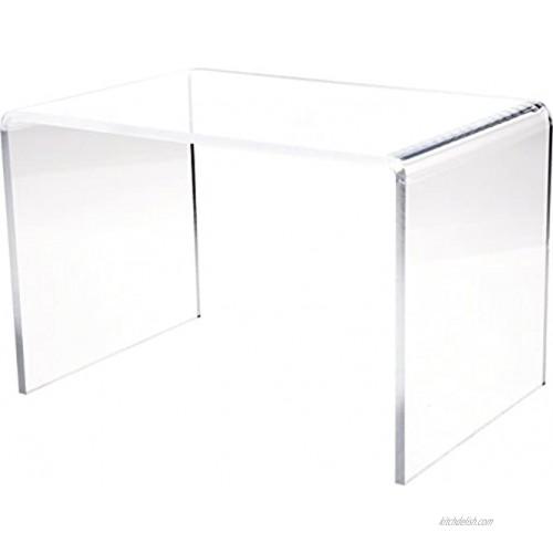Plymor Clear Acrylic Rectangular Display Riser 10 inch Height x 15 inch Width x 10 inch Depth 3 8 inch Thick