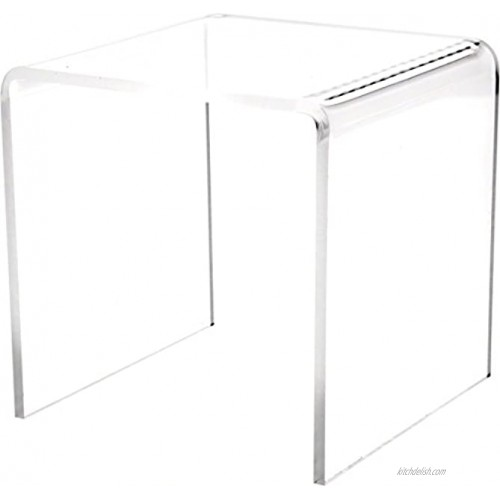 Plymor Clear Acrylic Square Display Riser 5 H x 5 W x 5 D 3 16 Thick
