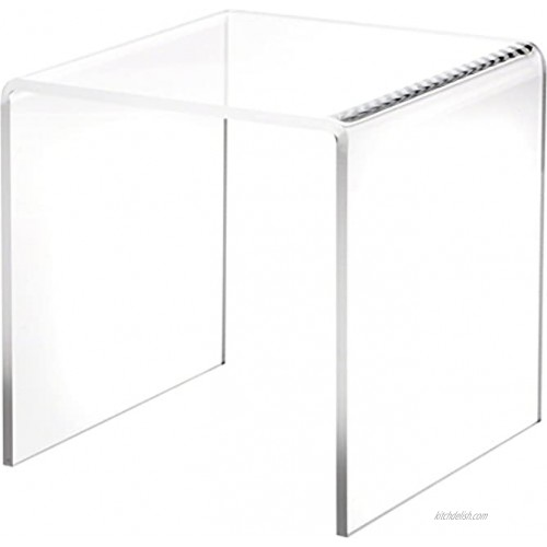 Plymor Clear Acrylic Square Display Riser 7 H x 7 W x 7 D 1 4 Thick
