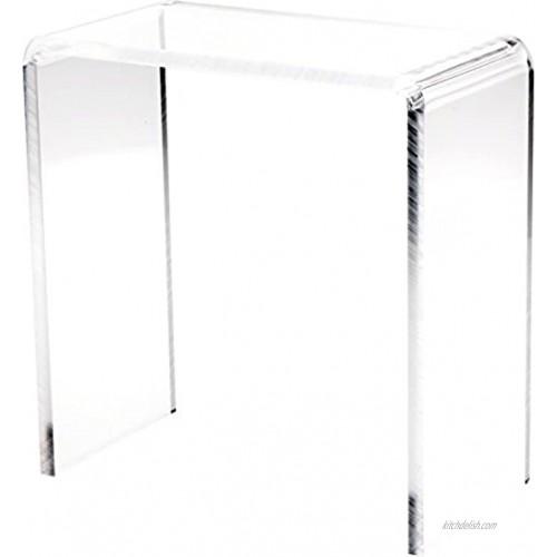 Plymor Clear Acrylic Vertical Rectangular Display Riser 10 H x 10 W x 5 D 3 8 Thick