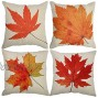 Tool Gadget Throw Pillow Covers Autumn Leaves Cushion Cover Fall Decorations Couch Pillow Cases Cotton Linen Fall Decor 18x18 for Sofa Couch Bed and Car