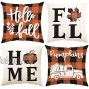 WF WU FANG Fall Pillow Covers 18x18 Set of 4 Fall Decor Throw Pillows for Home Home Decor for Fall Thanksgiving Couch Bedroom Home Office Living Room Porch House Ourside…