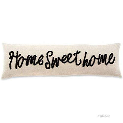 Mud Pie Sweet Home Knot Pillow 1 Count Pack of 1 White