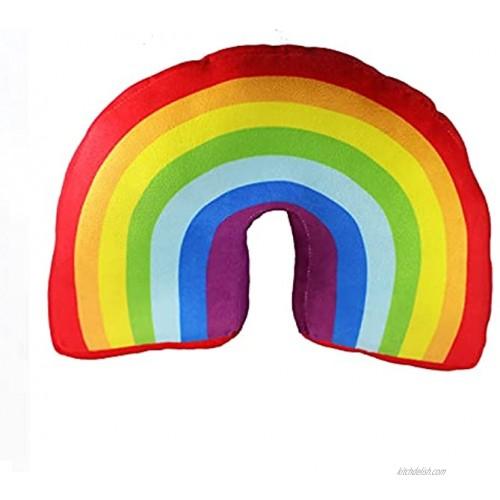 Poitemsic 13.7 Rainbow Pillow for Girls Kids Bed Decoration Cushion Arch Shaped Stuffed Plush Sofa Chairs Throw Pillows
