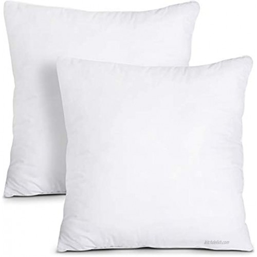 Utopia Bedding Throw Pillows Insert Pack of 2 White 20 x 20 Inches Bed and Couch Pillows Indoor Decorative Pillows