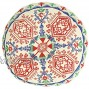 Creative Co-Op DF2355 3 H Cotton Embroidered Floor Cushion Pillow Multicolor