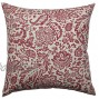 Pillow Perfect Damask Decorative Square Floor Pillow 24.5-Inch by 24.5-Inch Red Tan