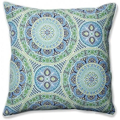 Pillow Perfect Outdoor Indoor Delancey Lagoon Floor Pillow 25 x 25 Blue
