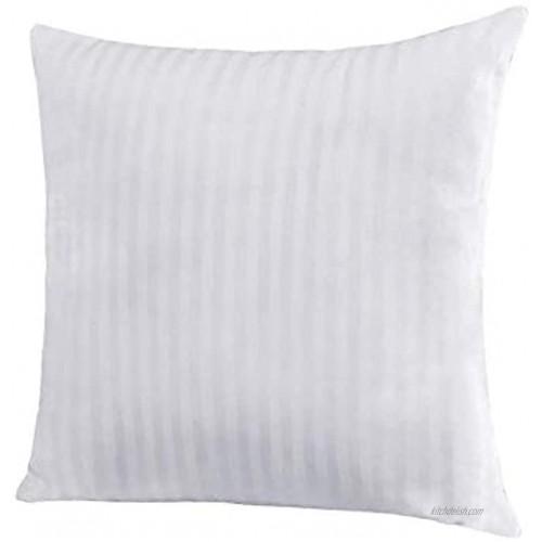 EvZ Homie Premium Stuffer Pillow Insert Sham Square Form Polyester 20 L X 20 W Standard White Striped for 20 Covers