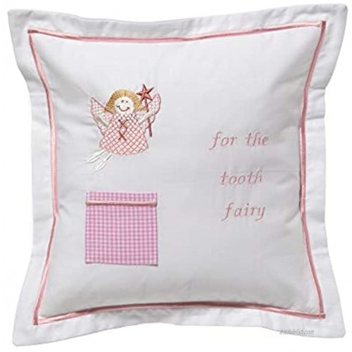 Jacaranda Living Cotton Percale with Included Polyester Insert Tooth Fairy Pillow Funky Fairy Pink