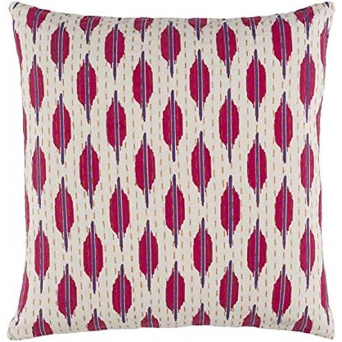 Kantha Pillow 20x20x5 Down Fill