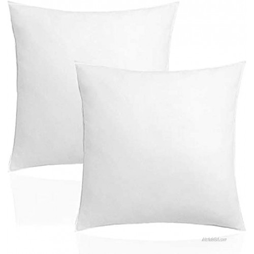 Pillow Inserts Hypoallergenic Premium Pillow Stuffer,2 Pack Premium Hypoallergenic Stuffer Pillow Inserts Sham Square Form Polyester for Decorative Cushion Bed Couch Sofa 18 x 18