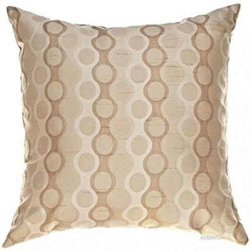 Softline Home Fashions RKFLSpeb18x18PW Liona Throw Pillow Pebble