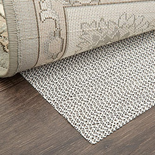 Home Dynamix Ultra Stop Non-Skid Cushioned Rug Pad 3'11x5'10 Cream Neutral