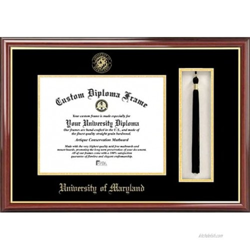 Campus Images MD998PMHGT University of Maryland Tassel Box and Diploma Frame 13 x 17